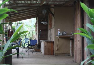 The deck at Gavilan is a favorite location to view hummingbirds, peccaries and or monkeys.